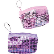 "4"" X 3""Pink Sequin Coin Purse"