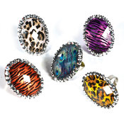 1.5 Bling Animal Print Ring Wholesale Bulk