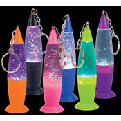 "4.15"" Glitter Lamp Key Chain"