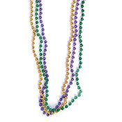 "33"" 7 mm Purple/Green/Gold Beads"