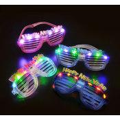 Happy New Year LED Slotted Sunglasses Wholesale Bulk