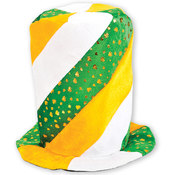 Irish Tri Color Swirl Stove Pipe Hat