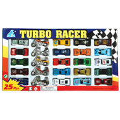 25 Pc Diecast Car & Motorcylcle Set