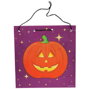 7.75&quot;Jack O&#39;Lantern Drawstring Bag