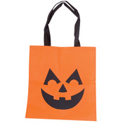 "15"" Fabric Jack-O Lantern Tote Bag"