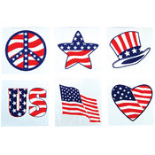 "2"" Stars & Stripes Patriotic Temporary Tattoo"