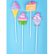 "Dessert Lollipop W/4"" Stick"