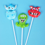 "Monster Lollipop W/4"" Stick"