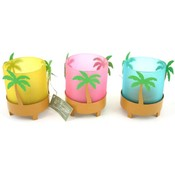 Palm Tree Candle Holders - 3 Assorted