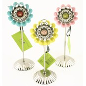 Flower Tart Photo Stands - 3 Assorted