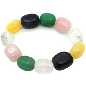 Pearlz Ocean Multi Gemstone Nuggets Stretch Bracelet