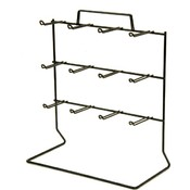 12-Peg Loop Hook Rack (Black) Wholesale Bulk