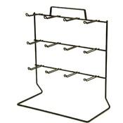 12-Peg Loop Hook Rack (Black) Wholesale Bulk