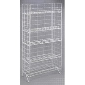 5 Shelf Adjustable Wire Rack-White Wholesale Bulk