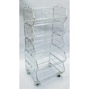 5-Tier Stacking Basket Display Wholesale Bulk