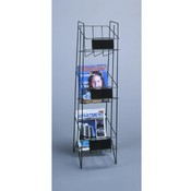 3 Pocket Magazine Display Rack (Black) Wholesale Bulk