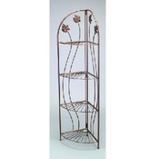 4-tier Decorative Corner Display Rack (Ant. Bronze) Wholesale Bulk