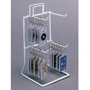 4-Peg Counter Rack 8.5&quot; Hx5&quot;Wx5&quot;D (White)