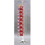 44-clipper Strip Spinner Rack (White) Wholesale Bulk