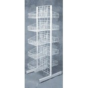 10 Basket Merchandiser (White) Wholesale Bulk