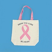 Breast Cancer Awareness Canvas Tote Bags