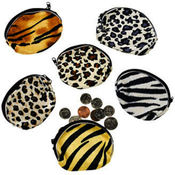 Plush Animal Print Coin Purse