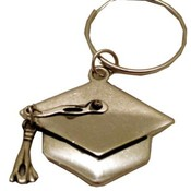 Pewtertone Metal Graduation Cap Key Chains