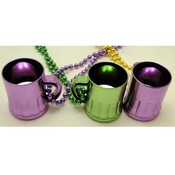 Mardi Gras Traveling Shot Glass