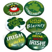 St Patrick&#39;s Day Mini Shamrock Buttons