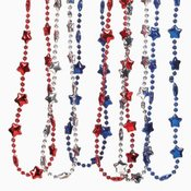 Patriotic Metallic Star Necklace