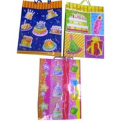 Gift Bag Birthday 3D in 3 Assorted Colors