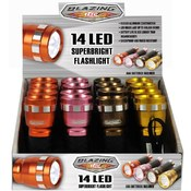 Blazing LEDz Cool Colors 14 LED Flashlight