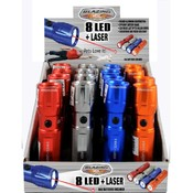 Blazing LEDz 8 White + Laser Flashlight