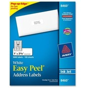 "Avery Consumer Products  Inkjet Labels, Mailing, 1""x2-5/8"",3000/PK, White"