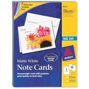 Avery Consumer Products Inkjet Cards W/Envelopes, 5-1/2x4-1/4, Matte, 60/BX, WE Wholesale Bulk
