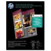"Hewlett-Packard Tri-Fold Brochure Paper,Glossy,8-1/2""x11"",48Lb,100 Sheets,WE"