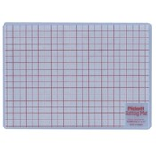 Chartpak  Cutting Mat, 8-1/2&quot;x12&quot;, White Translucent With Red Lines