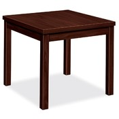"HON Company Corner Table, Laminate, 24""x24""x20"", Mahogany"