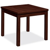 "HON Company End Table, Laminate, 24""x20""x20"", Mahogany"