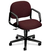 HON Company Mgr. Mid-Back Swivel Chair, 26&quot;x26-1/4&quot;x35-1/2&quot;, Burgundy