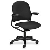 HON Company Mgr. Mid-Back Chair,w/ Arms,25-3/4&quot;x26-5/8&quot;x41-1/4&quot;,Iron