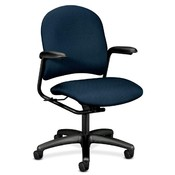 HON Company Mgr. Mid-Back Chair,w/ Arms,25-3/4&quot;x26-5/8&quot;x41-1/4&quot;,Blue