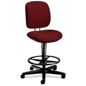 "HON Company Swivel Pneumatic Task Stool, 26-3/4""x30""x49-3/4"", Burgundy"
