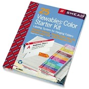 Smead Manufacturing Company  Labeling System Starter Kit W/Software, 25 Tabs, 32 Labels