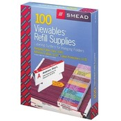 Smead Manufacturing Company Labeling System Supplies Kit, 100 Tabs, 112 Labels, White