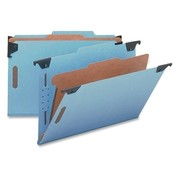 "Smead Manufacturing Company  Classification Folder, 2"" Expansion, 1 Divider, Legal, Blue"