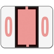 "Smead Manufacturing Company  Numeric Coded Labels, ""0"", 1-1/4""x1"", 500/RL, Pink"