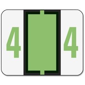 "Smead Manufacturing Company  Numeric Coded Labels, ""4"", 1-1/4""x1"", 500/RL, Light Green"