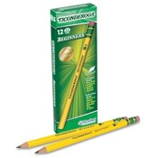 Dixon Ticonderoga Company Beginner's Pencil, No. 2, With Eraser, Yellow