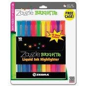 Zebra Pen Corporation Liquid Highlighters, Chisel Point, 10/ST, Assorted Wholesale Bulk